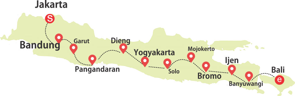 java bali tour package route